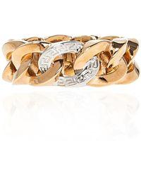 Versace 'medusa' Ring Gold - Metallic