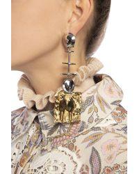 Chloé Drop Earrings Silver - Metallic