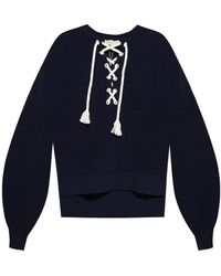 MICHAEL Michael Kors Jumper With Tie Belt Navy Blue