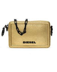 DIESEL Shoulder Bag With Logo Gold - Metallic