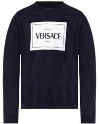 Versace - Sweatshirt With Logo Black - Lyst