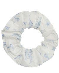 Ganni Patterned Hair Tie - White