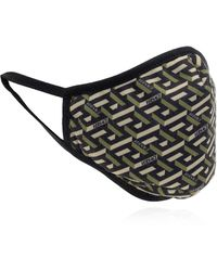 Versace Mask With Logo - Green