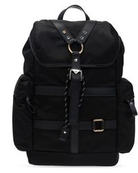 Versace Backpack With Logo Black