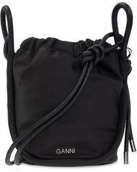 Ganni - Shoulder Bag With Logo - Lyst