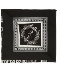Dolce & Gabbana Patterned Scarf - Black