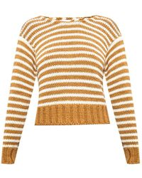 Chloé Tie-up Ribbed Jumper - Brown