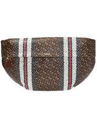 Burberry 'sonny' Patterned Belt Bag - Brown