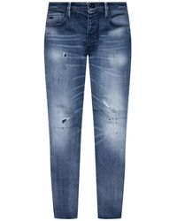 Emporio Armani Distressed Jeans - Blue