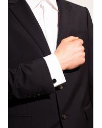 Burberry Cuff Links With Logo - Metallic