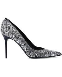 Balmain Embellished Stiletto Court Shoes - Metallic