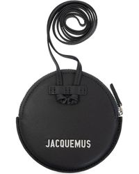 Jacquemus 'le Pitchou' Pouch With Strap - Black