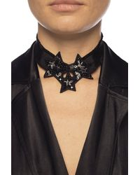 RED Valentino Embellished Necklace Black