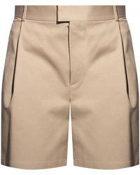 Bottega Veneta Shorts With Pleats - Grey