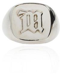 MISBHV Ring With 'm' Monogram - Metallic
