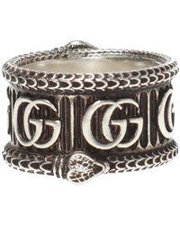 Gucci - Snake Motif Ring - Lyst