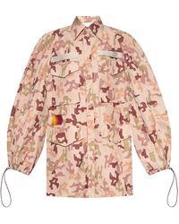 The Attico Camo-printed Jacket - Natural