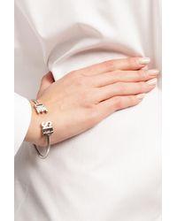 DIESEL Logo Bracelet Silver - Metallic