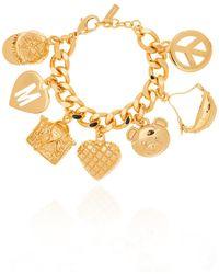 Moschino Bracelet With Charms - Metallic