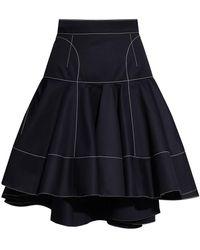 Alexander McQueen Asymmetrical Skirt - Blue