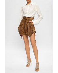 Zimmermann High-waisted Shorts - Brown