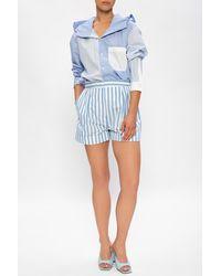 Marni High-rise Shorts - Blue