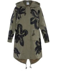 Moschino Printed Oversize Parka - Green
