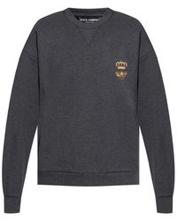 Dolce & Gabbana Embroidered Sweatshirt Grey
