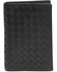 Bottega Veneta Leather Wallet - Black