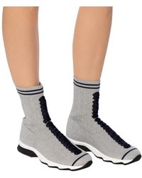 Fendi Shoes With Sock - Metallic