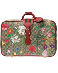 Gucci 'flora' Printed Suitcase - Multicolour