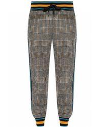 Dolce & Gabbana Patterned Pants With Ribbing - Gray