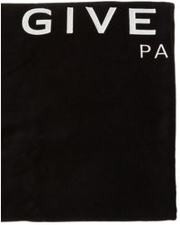 Givenchy Towel With Logo Black