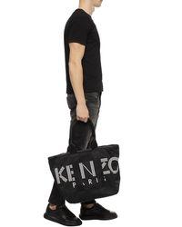 KENZO Shopper Bag With Logo - Black