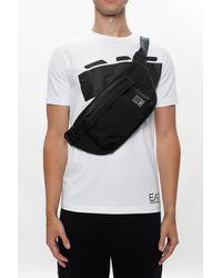 Emporio Armani Belt Bag With Several Pockets - Black