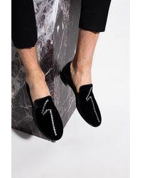 Giuseppe Zanotti 'kevin' Velvet Loafers Black