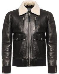 Diesel Black Gold Fur Collar Jacket - Black