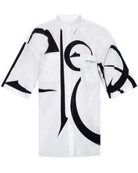 Givenchy Calligraphy-pattern Short-sleeved Shirt - White
