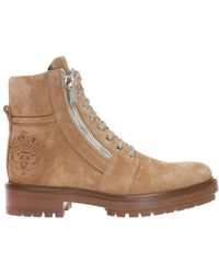 Balmain - Boots With Embossed Logo - Lyst