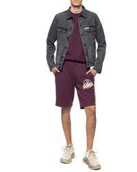 Off-White c/o Virgil Abloh Sweat Shorts With Logo - Purple