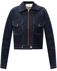 Victoria, Victoria Beckham Denim Jacket Navy Blue