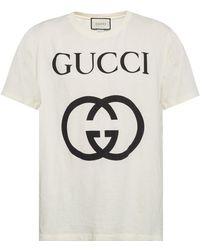 fa8c0f3e0 Gucci Crewneck T-shirt in White for Men - Lyst