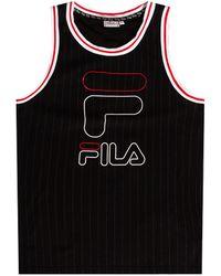 Fila Sleeveless T-shirt With Logo Black