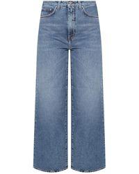 Totême Jeans With Logo - Blue