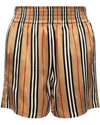 Burberry Silk Shorts - Brown