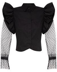 RED Valentino Long-sleeve Shirt Black