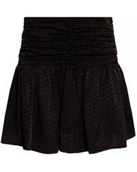 Zadig & Voltaire Silk Skirt With Logo - Black