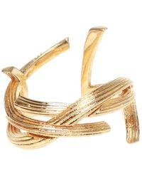 Saint Laurent Branded Ring - Metallic