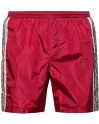 Gucci Gg Supreme Logo Swim Shorts - Red