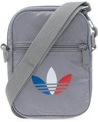 adidas Originals Branded Shoulder Bag Gray